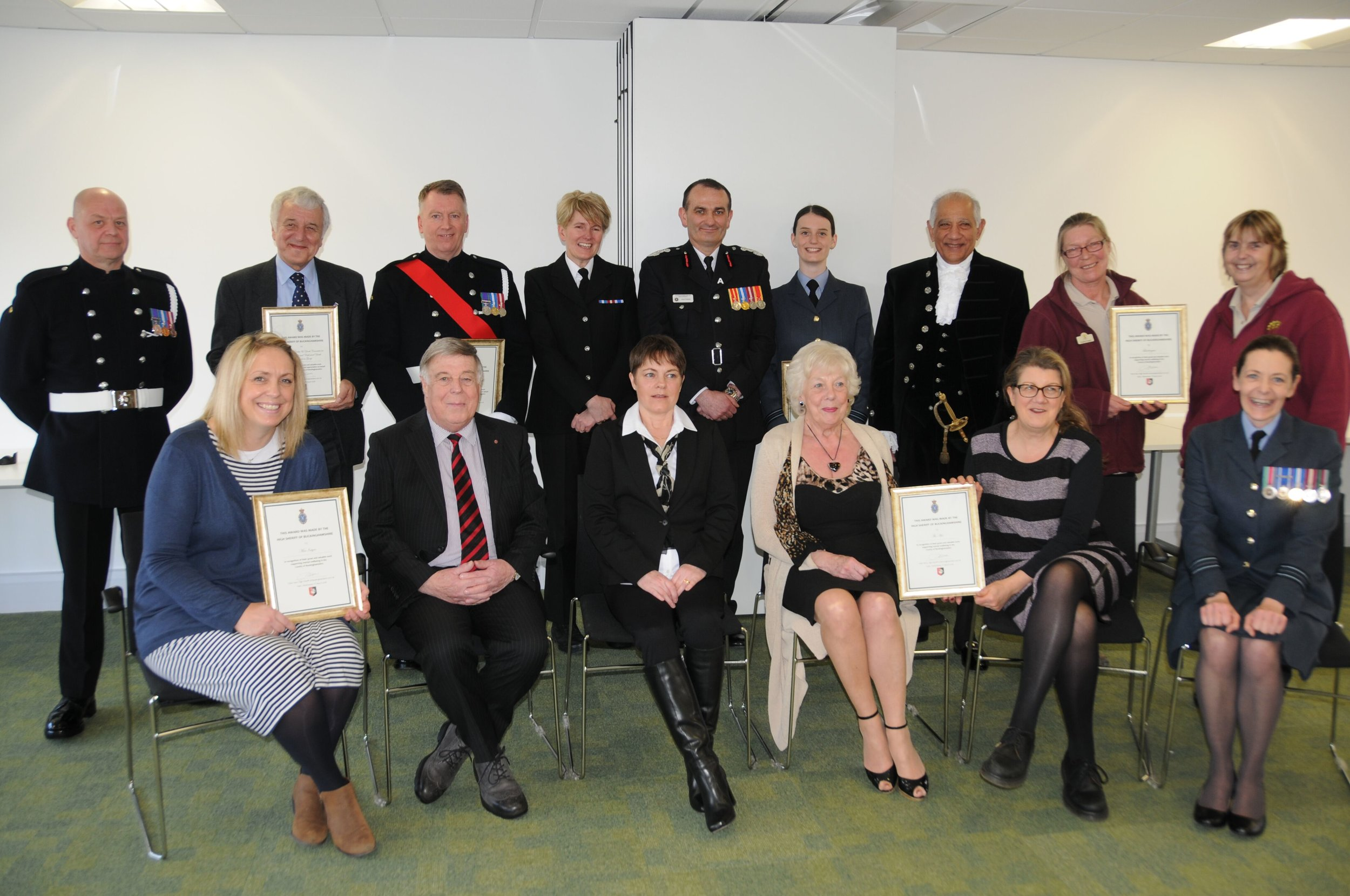 Mel and Cynthia collecting the High Sheriff of Buckinghamshire Award ceremony on the 7th March