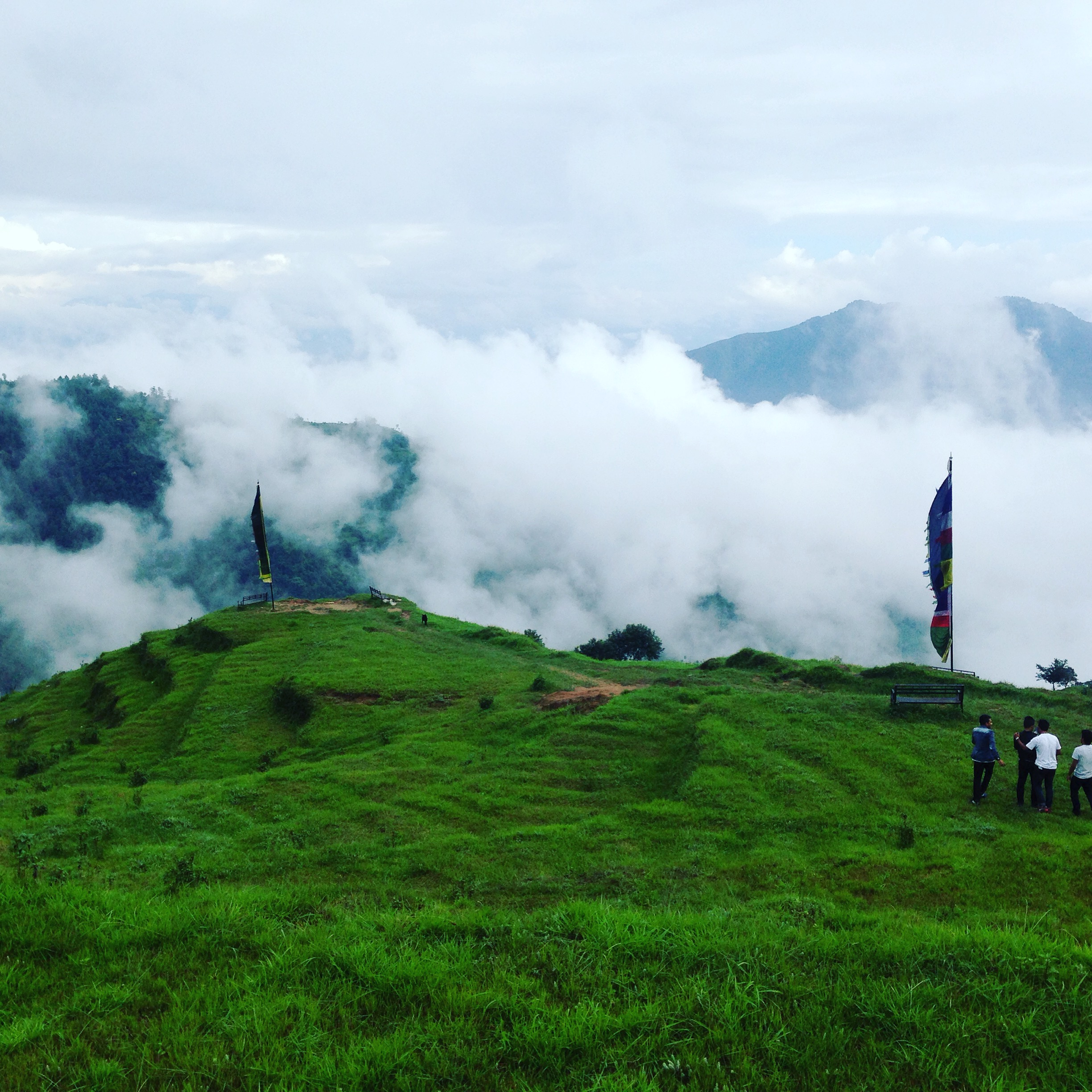 Kakani, where the clouds kiss the ground as we hiked through the mountains
