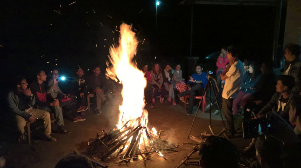 Campfire reflection lead by Abdus