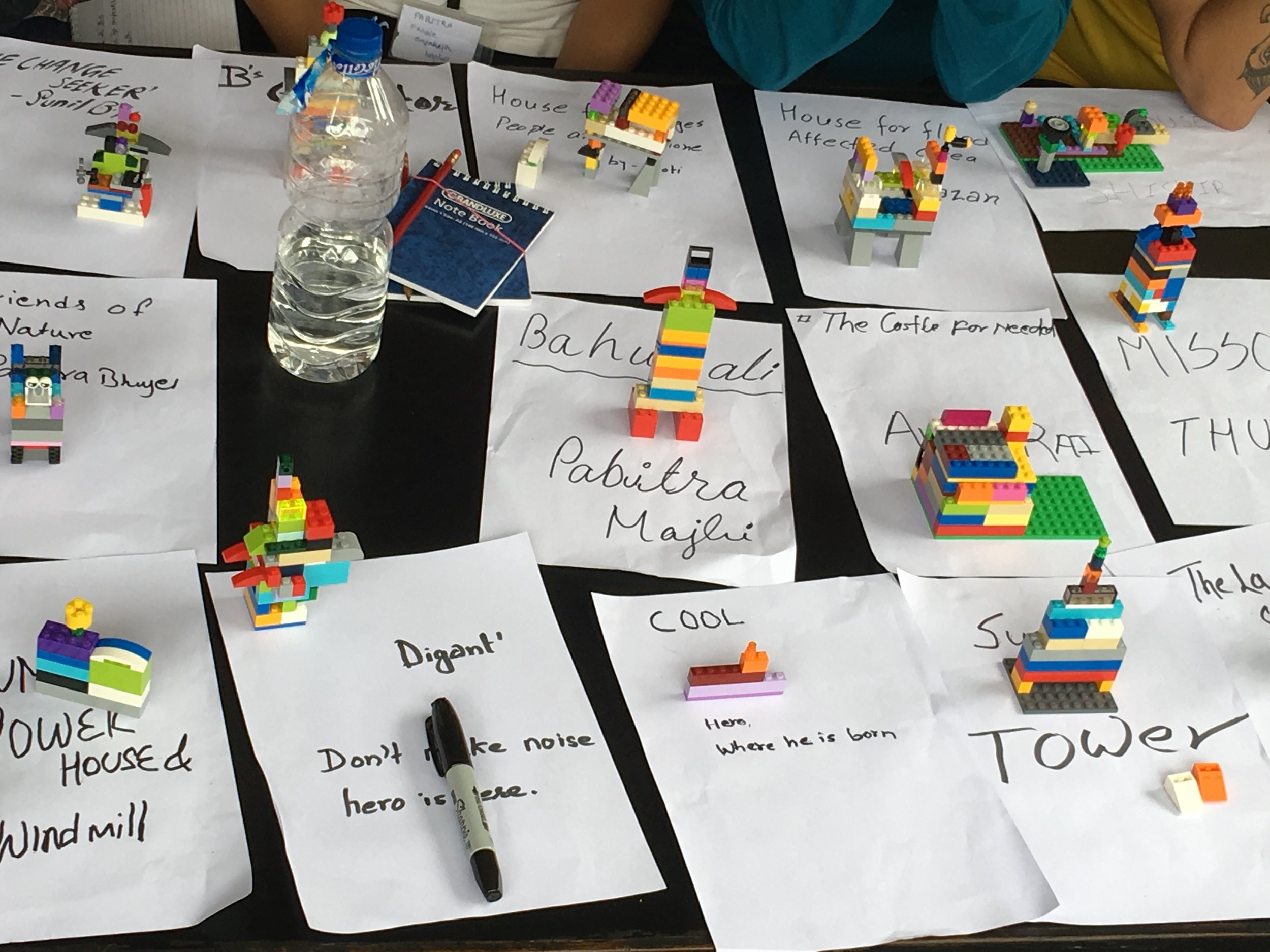 Hero Journey models made from Lego