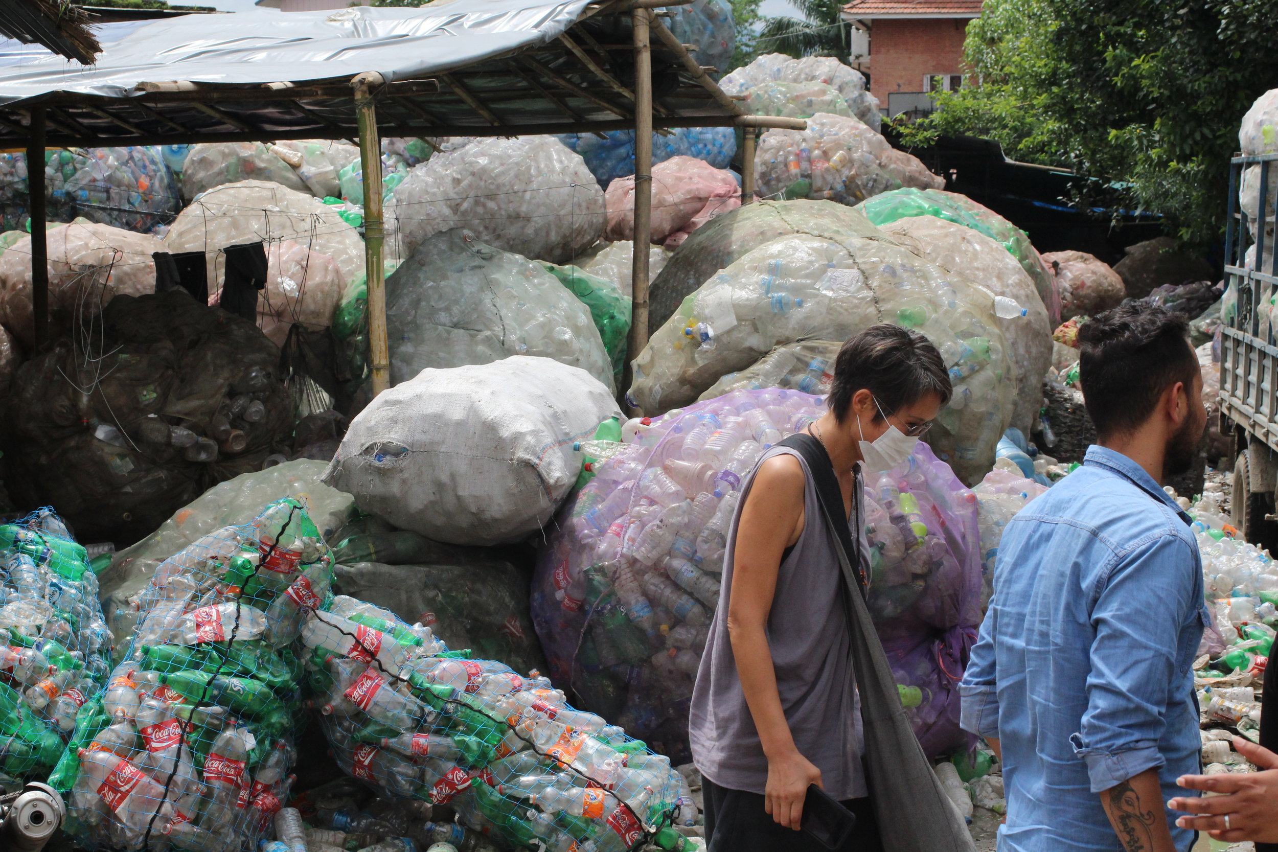 One of HCI's NGO program: Friends of the city, allows for plastic bottle collection by women workers to increase their ability to provide for their families