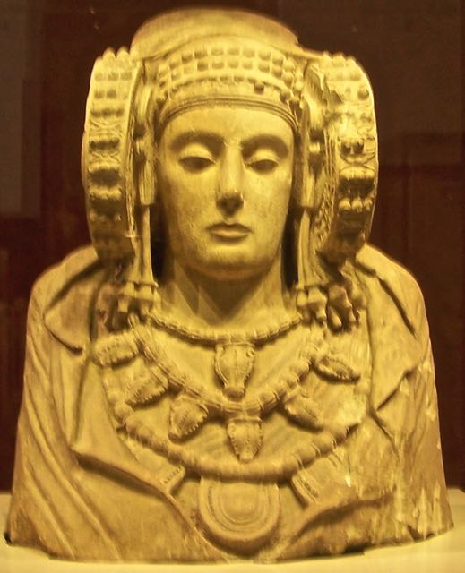The Dama de Elche statue in Madrid Archaelogical Museum