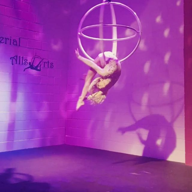 Now + forever 🌌🌗// guest performance from @swaerialchampionship on my aerial sphere from @poleamoruk 🧡 my first ever sphere performance.  Absolutely love this act.  #aerialist #aerialinspirations #aerial #dance #bend #circus @pepe_arts #upartists #dancer #aerialnation #bend #contortion #dreadlockstyle @dreadlockstyle