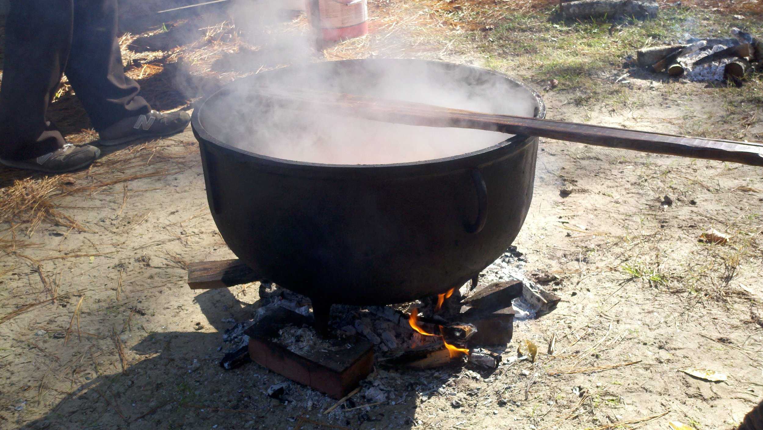 The cauldron of brunswick stew.  My husbands families tradition of marking the fall season.