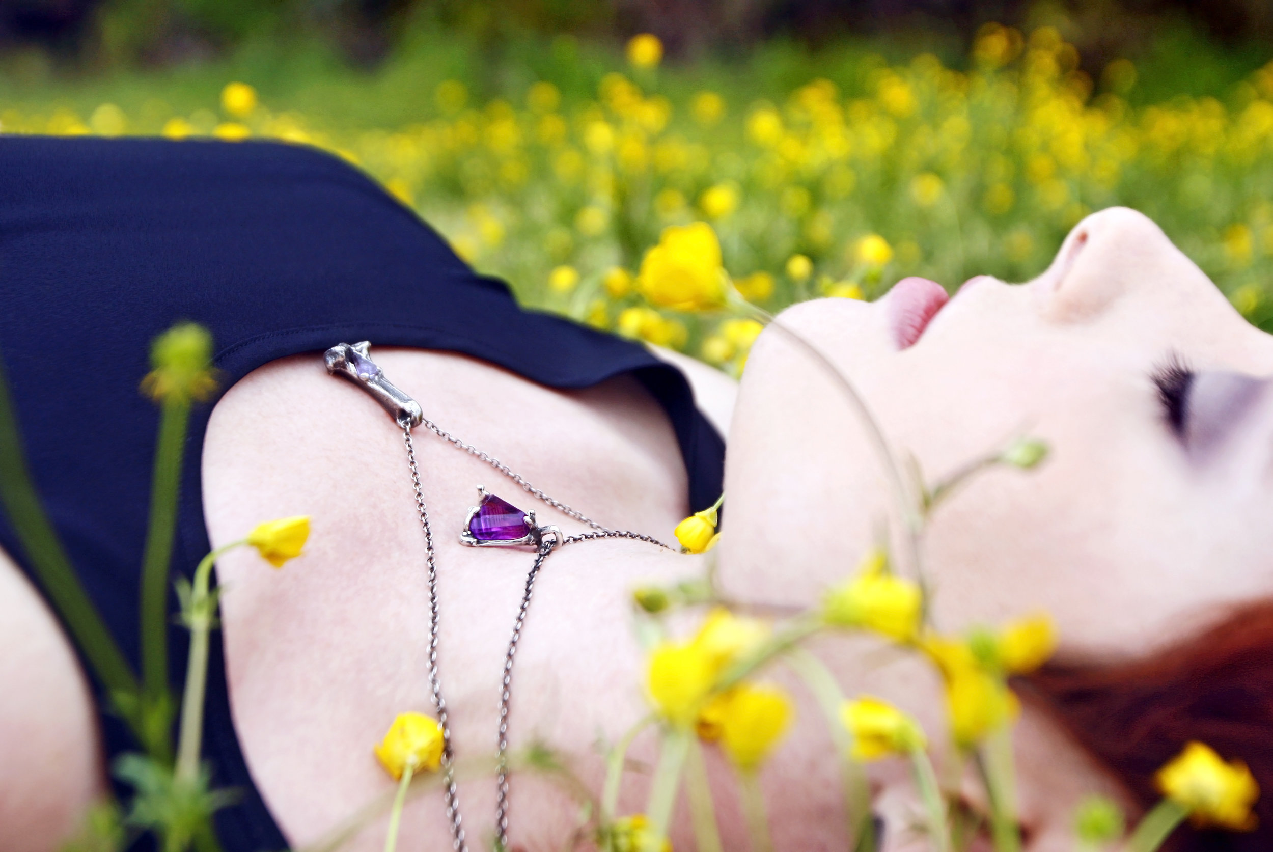 Laying in a field of flowers - ultimate white noise location.