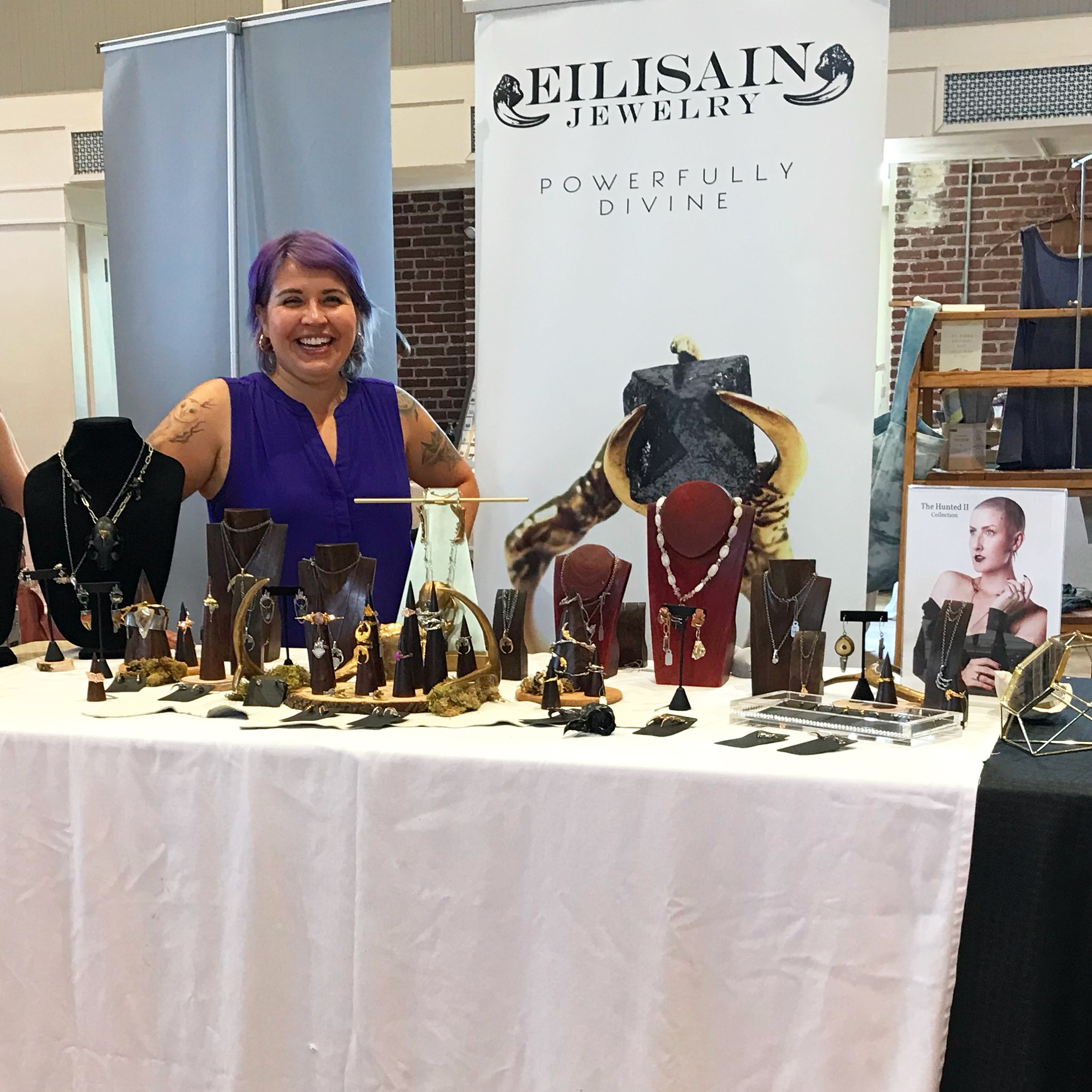 At my most recent show, the Durham Patchwork Market in Durham, NC.