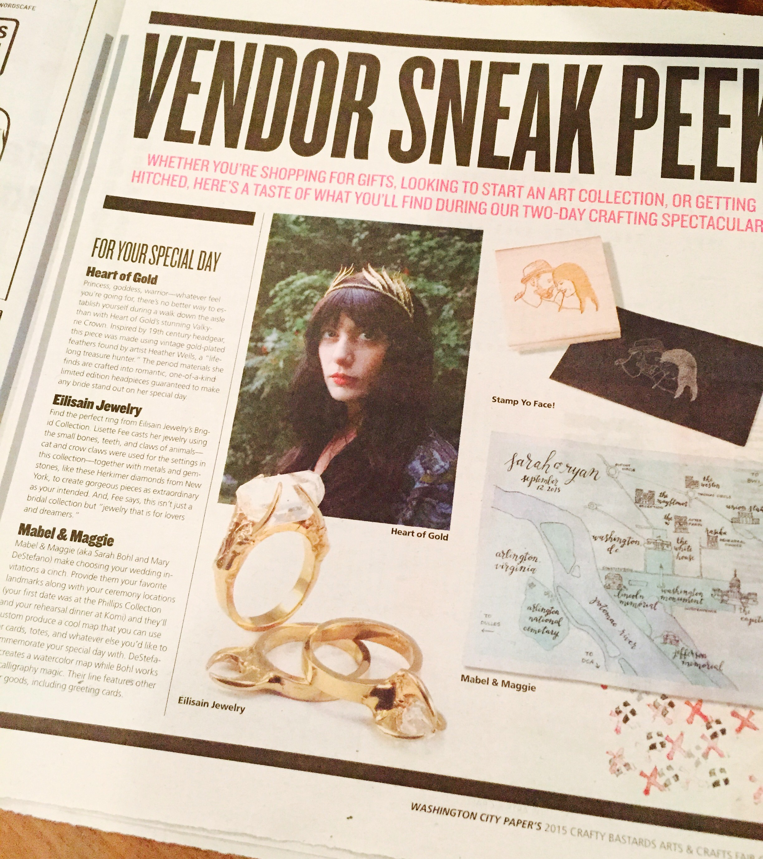 Two years ago when my jewelry landed in the Washington Post insert!!!