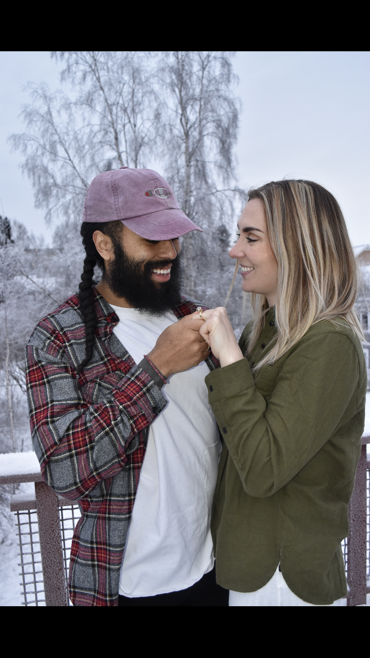 How cute is this couple?! They got engaged two years ago over the holidays.