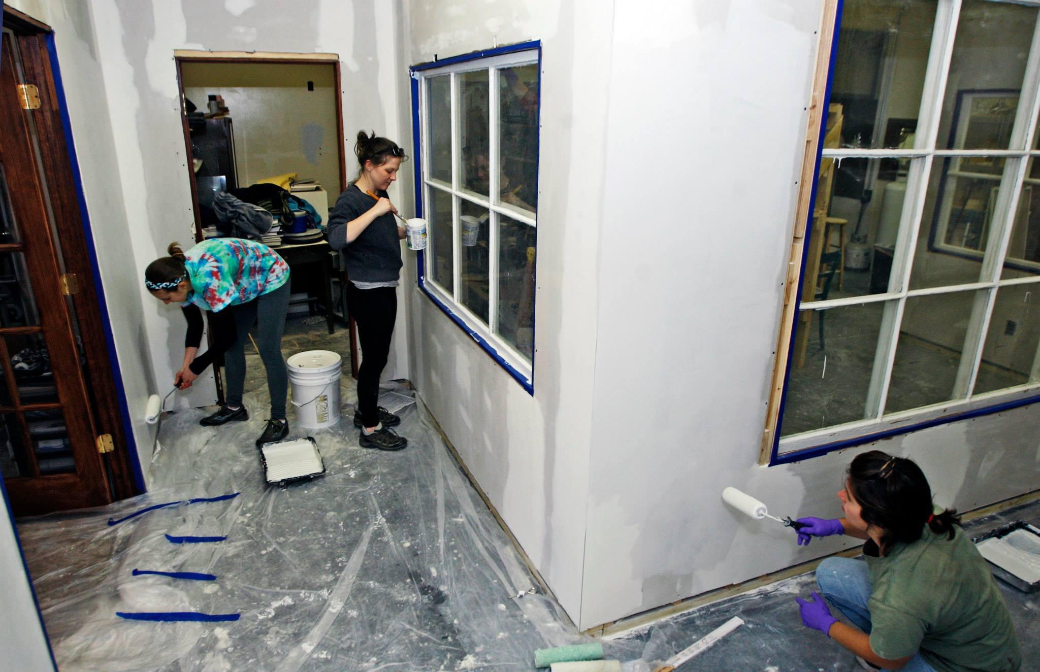 It was a complete volunteer effort in creating designated studio spaces.