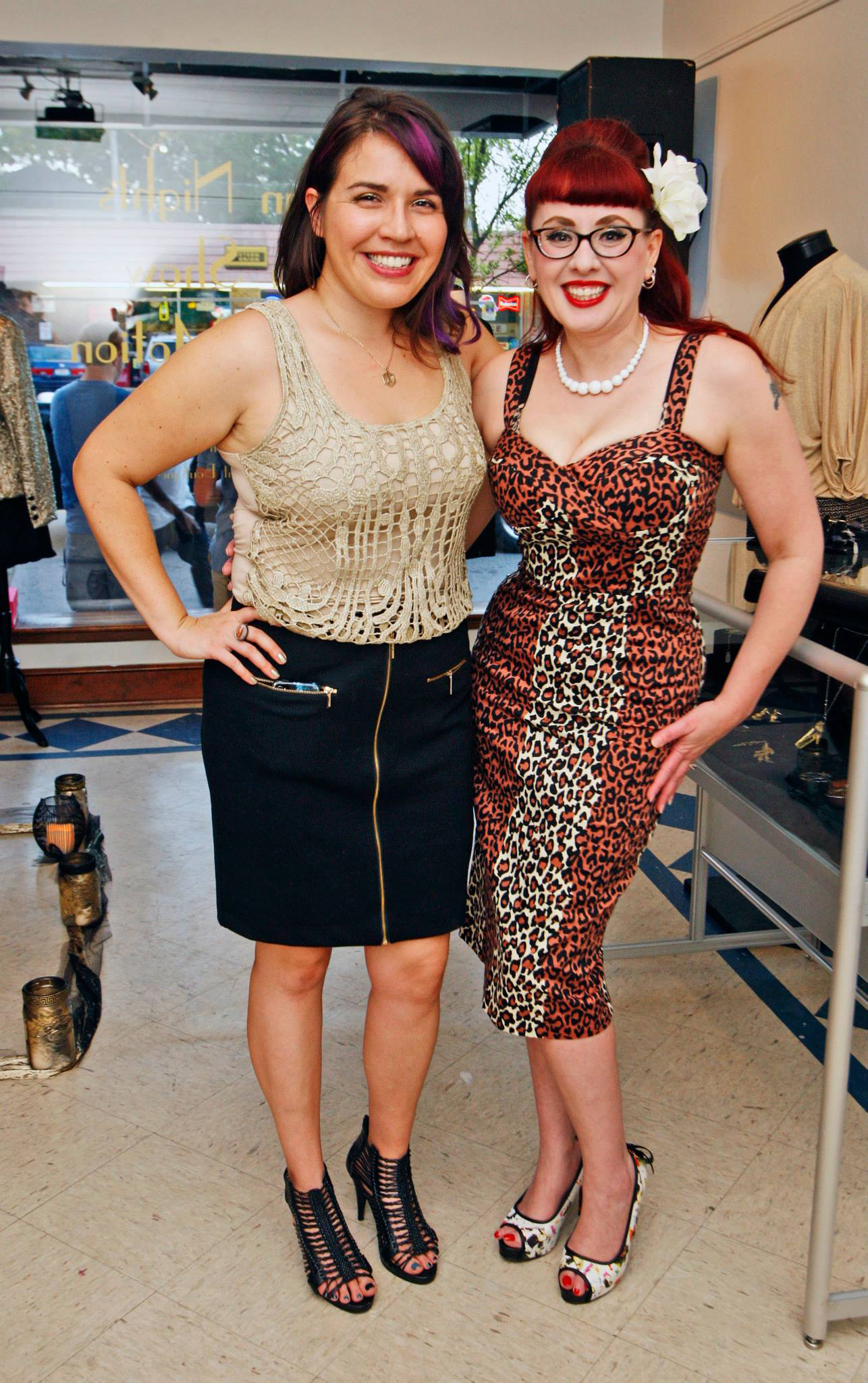 Me with my friend Gabi. The show was the talk of the town.