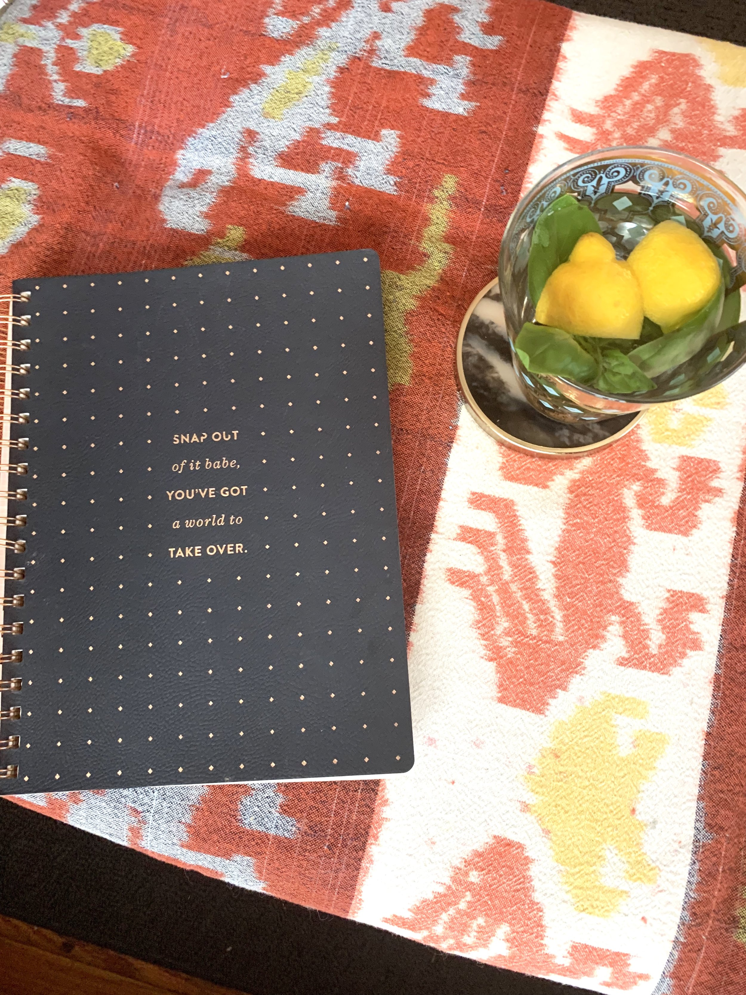 Notebooks are essential for capturing ideas and goals.