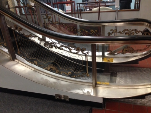 """""""Even the escalator over there, those glass panels were all hand screened in Paris and flown over. Now, you can't replace them. If we have empty ones or they crack, they can't be replaced because they were all hand done."""""""