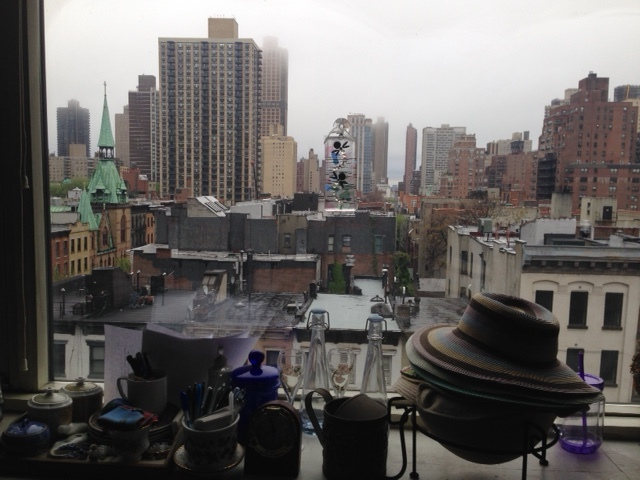 I stayed in my cousin's apartment on the Upper East Side. Here is the view from her window in the early morning.