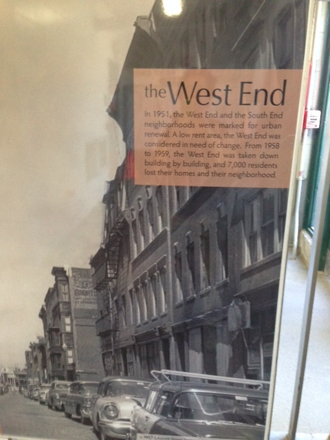 """In case you want to remember what this neighborhood looked like before urban renewal, you can see photos of the West End displayed at the Science Park """"T"""" Station."""