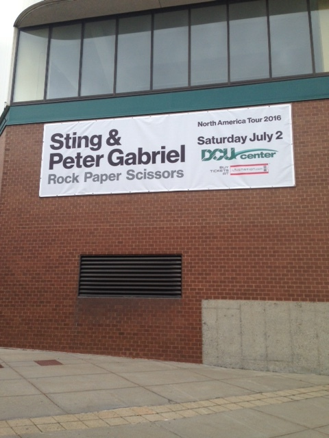 Oh, how great is this! Sting and Peter Gabriel were here in Worcester on July 2nd. I'm serious. I love this music! But, let's think about the streets here. People will pass by these sidewalks on the way to the concert and several hours later, they will leave and probably go to their cars. That's probably about 2 hours of heavy sidewalk traffic on this particular day. The rest of the 24 hours, all will be quiet here as I'm experiencing it now. On the days when nothing is scheduled at the DCU Center, we have this whole city block that is essentially asleep.