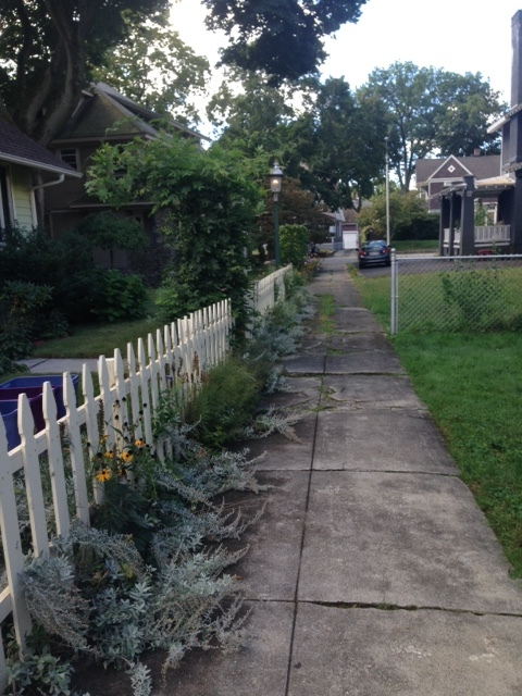 """Greenleaf Terrace is not your usual street. One can't drive down this """"road"""". It's actually a pedestrian way between two key streets (Midland and Pleasant)."""