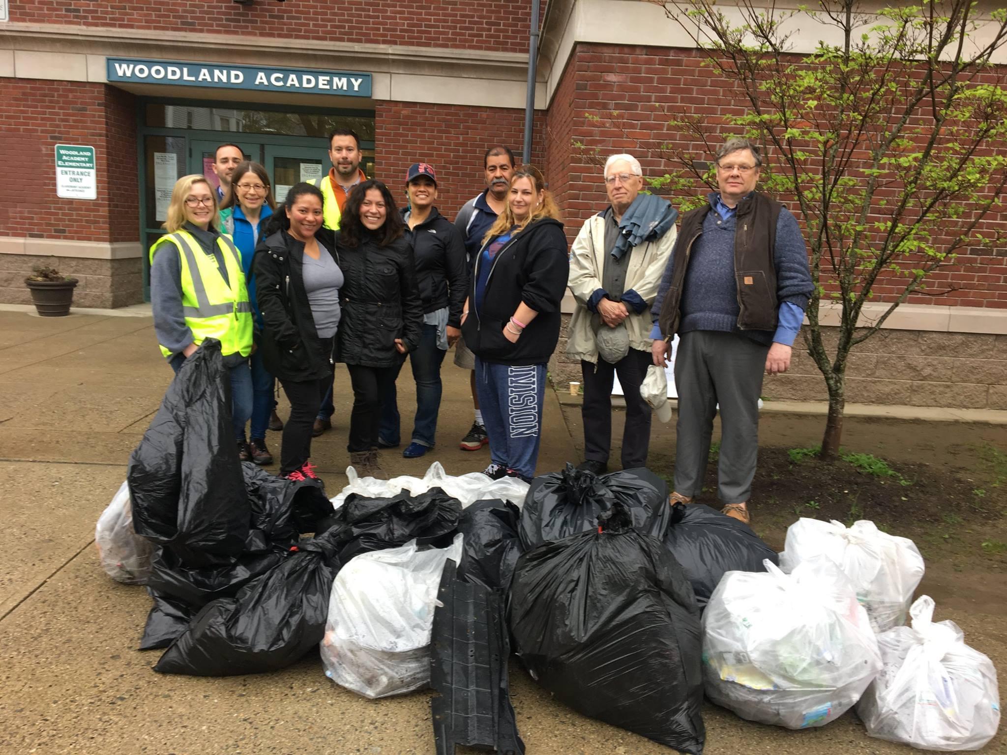 Woodland Academy School Route Clean-up Walk