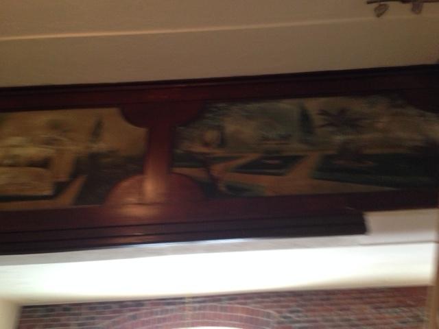 Frescoes on the women's balcony still grace the walls