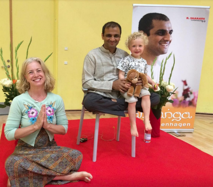 Elliott and I on our yoga travels to study with Sharath Jois