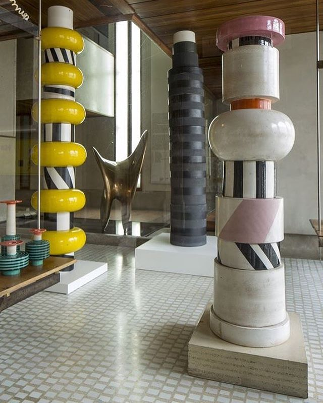 """Architect Charles Zana presents """"DIALOGO"""", more than 60 pieces from #CarloScarpa and #EttoreSottsass at The Olivetti boutique, Venice. #ChampalimaudInspiration"""