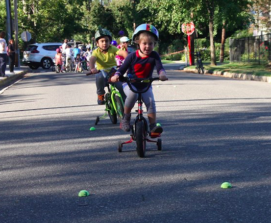September bicycle rodeo outside sea cliff elementary school