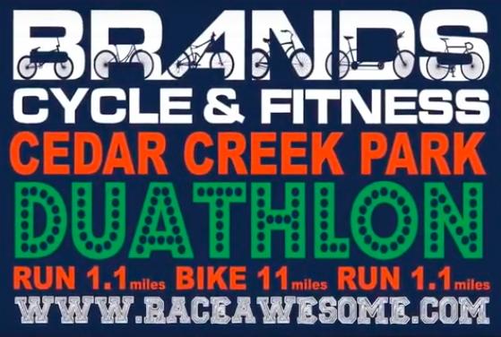 LONG ISLANDS fastest growing Fall Duathlon. Run 1.1 miles on park paths, Bike 4 loops on closed roads (total of 11 miles), Run another 1.1 miles on park paths. Located in Nassau County's Cedar Creek Park, Seaford, New York.
