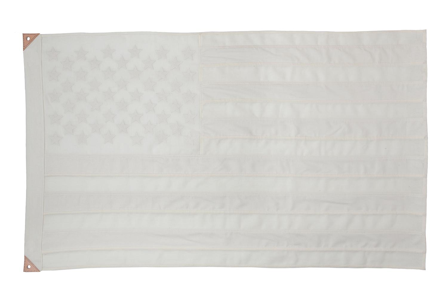 White Wool & Silk American Flag
