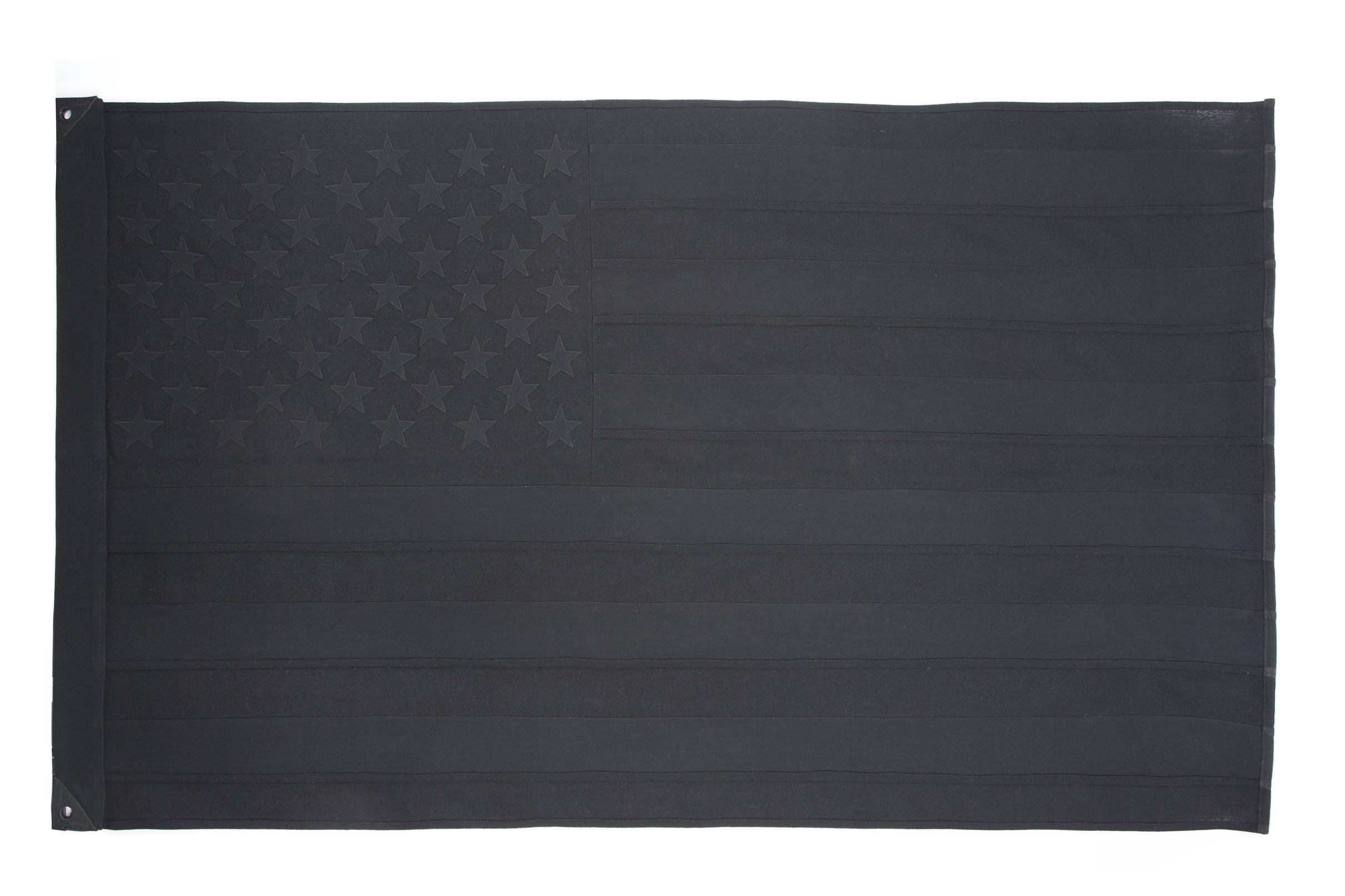Black Wool & Silk American Flag