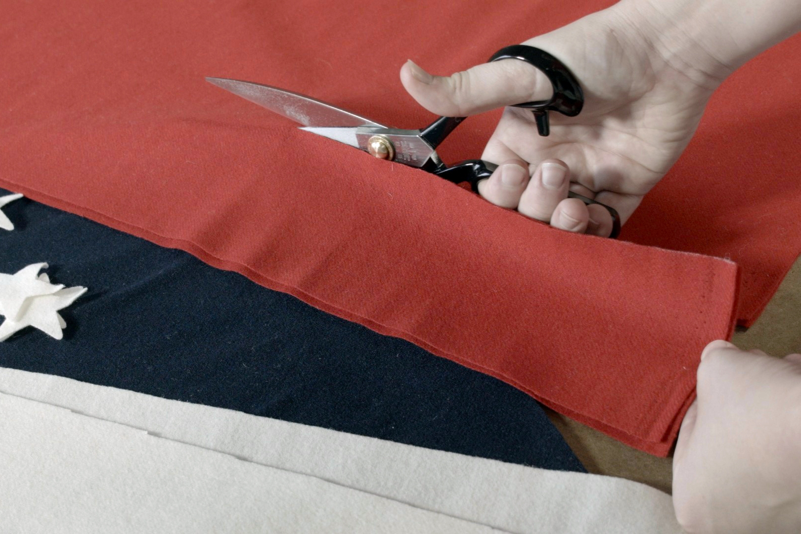 We practice what we preach and truly understand what made in America really means. We're making American flags after all!