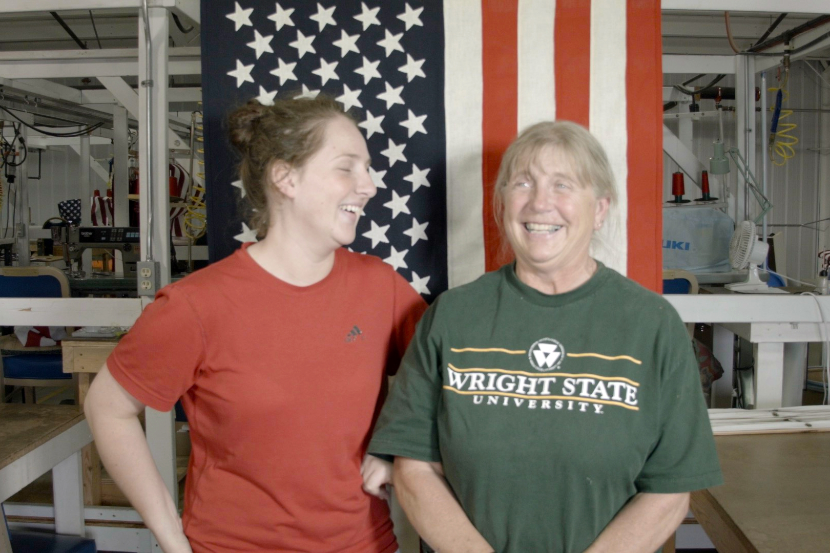 When we set out to produce American flags we wanted to find the best American manufacturer and our search took us back to our home state of Ohio where we met Lori and Loretta who have become our biggest supporters in our mission to create fine flags while helping to create jobs along the way.