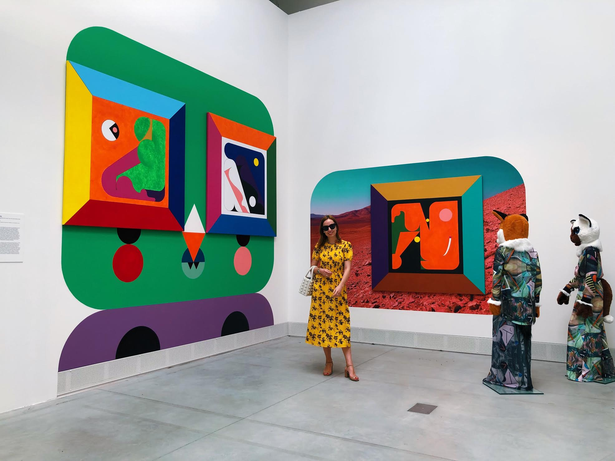 Ad Minoliti 'Mural' , 2019 atVenice Biennale.