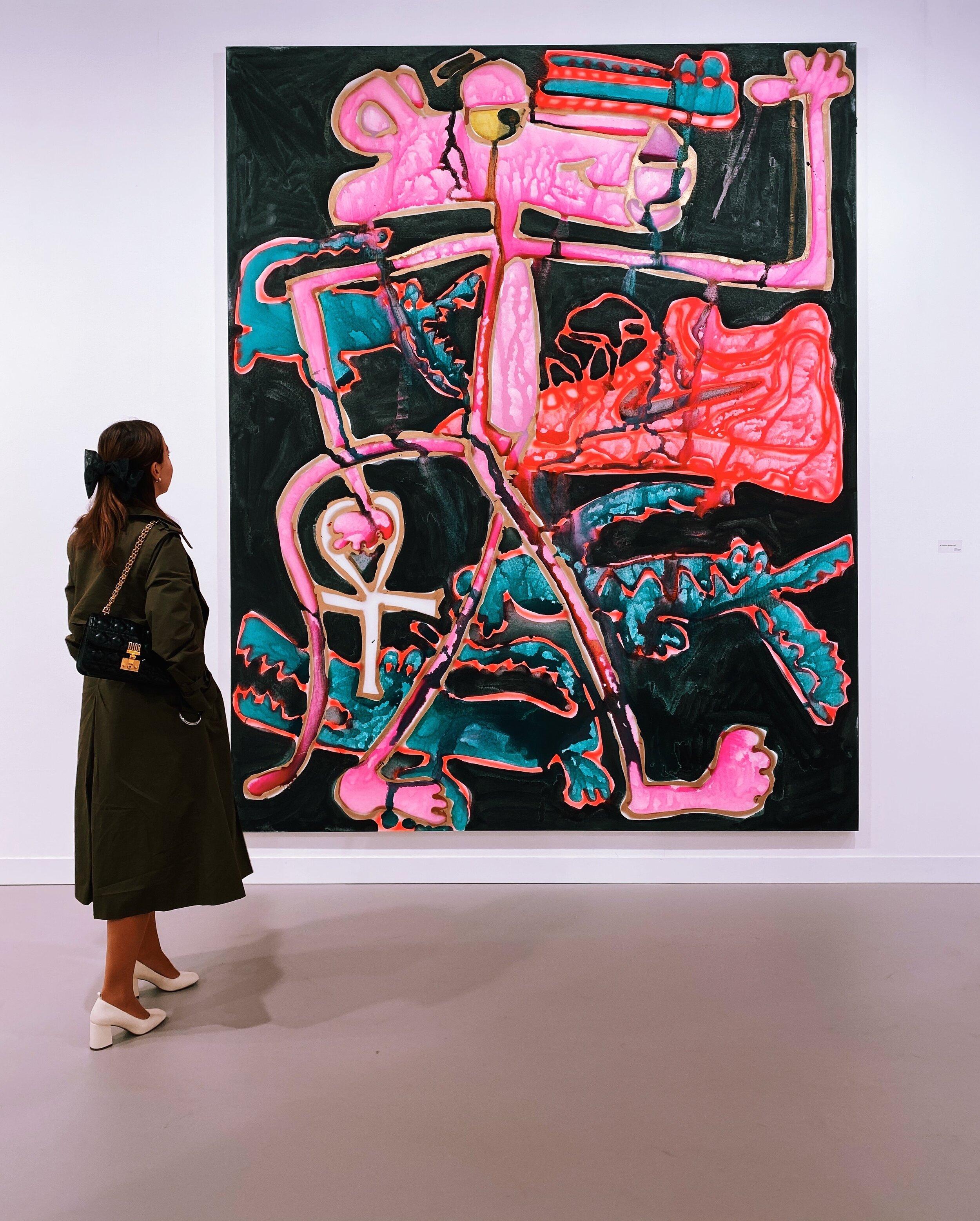 Katherine Bernhardt at Carl Freedman Gallery / Frieze Art Fair /.