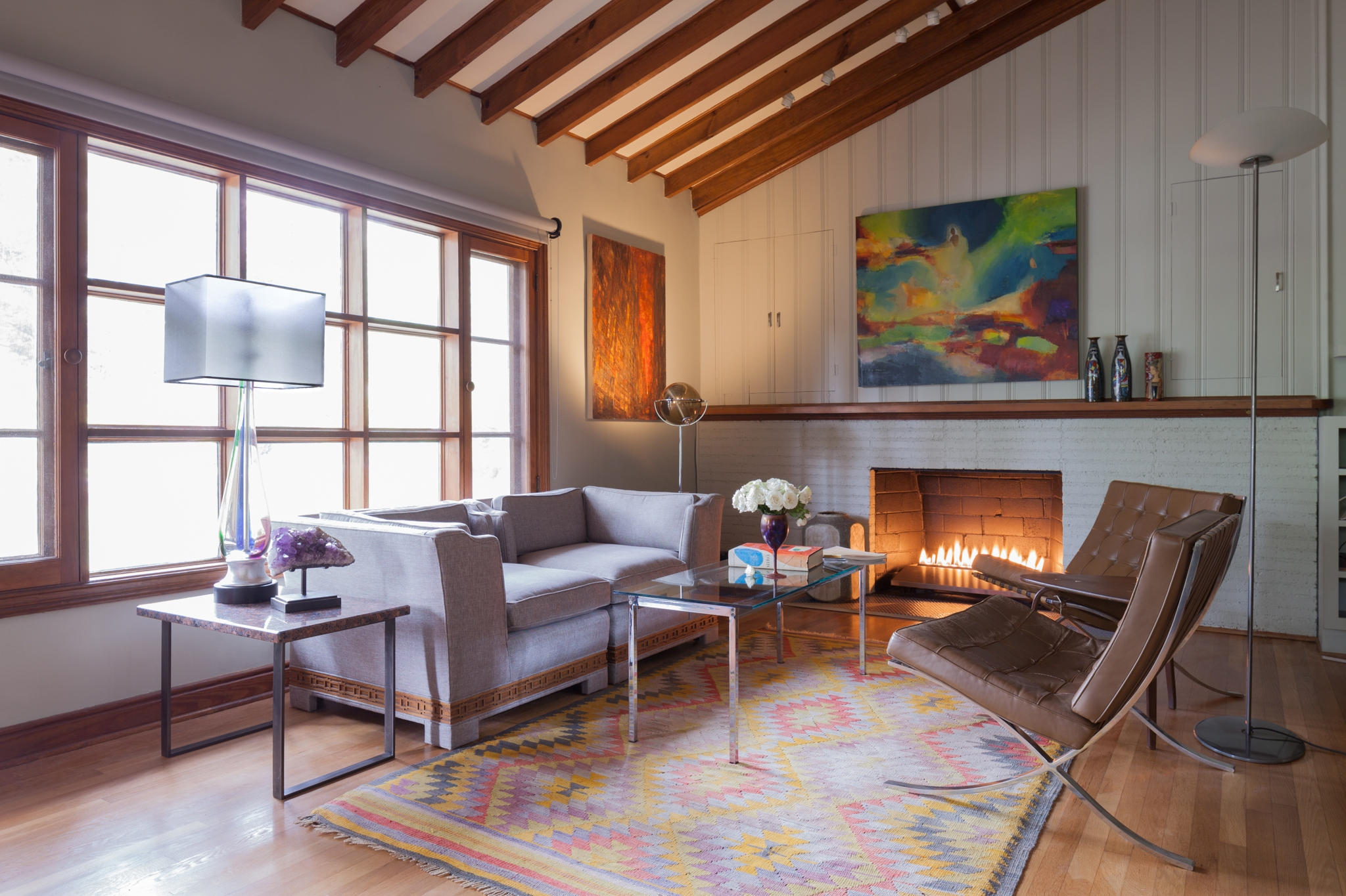 Client's childhood home transformed by mid-century furniture