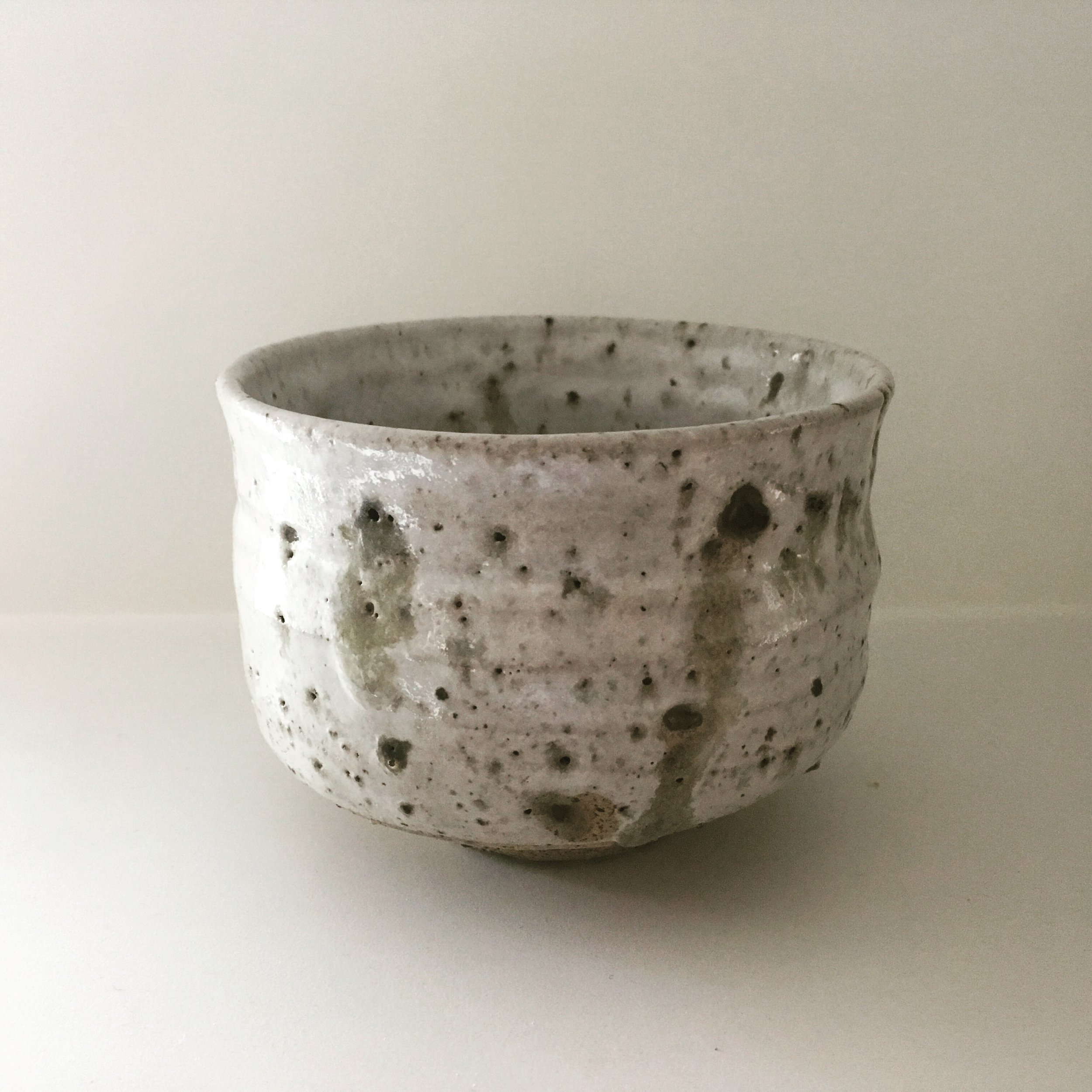 Chawan   Unsieved and unwashed local clay from Stanage Edge (Odin Mine), Peak District, UK mixed with stoneware. Zirconium glaze.  NOT FOOD SAFE  Ø 11 - €30