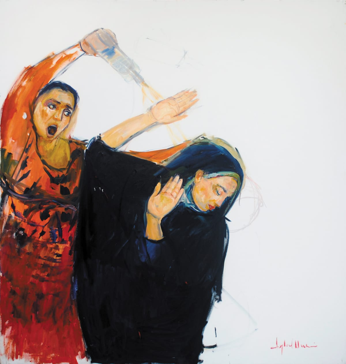 Iqbal Hussain,  Untitled,  Oil on Canvas, 54 x 60, Courtesy of Clifton Gallery