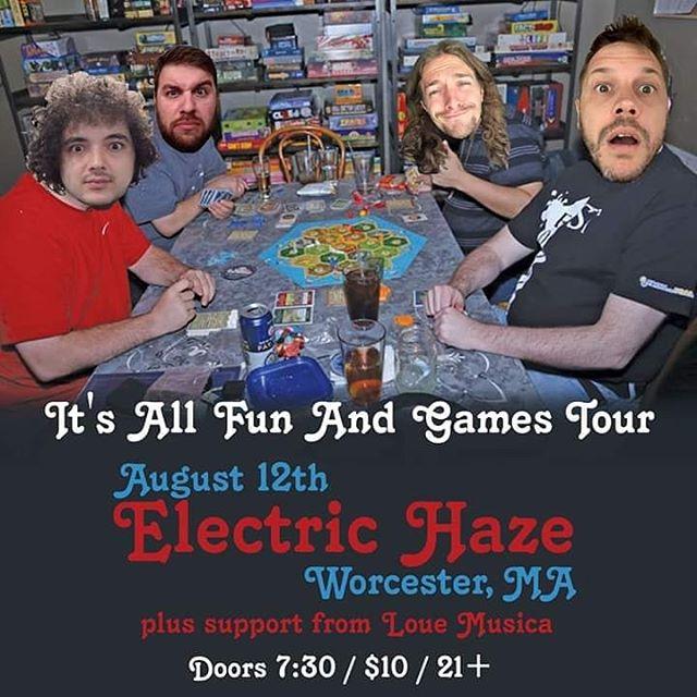 @electrichazeworcester tonight! Night number 10 of the All Fun And Games Tour. Got @louemusica opening up too! - #itsallfunandgames #itsallfunandgamestour #tour #fun #worcester #massachusetts #mondaynight #hiphop #tourlife #gametime #settlersofcatan