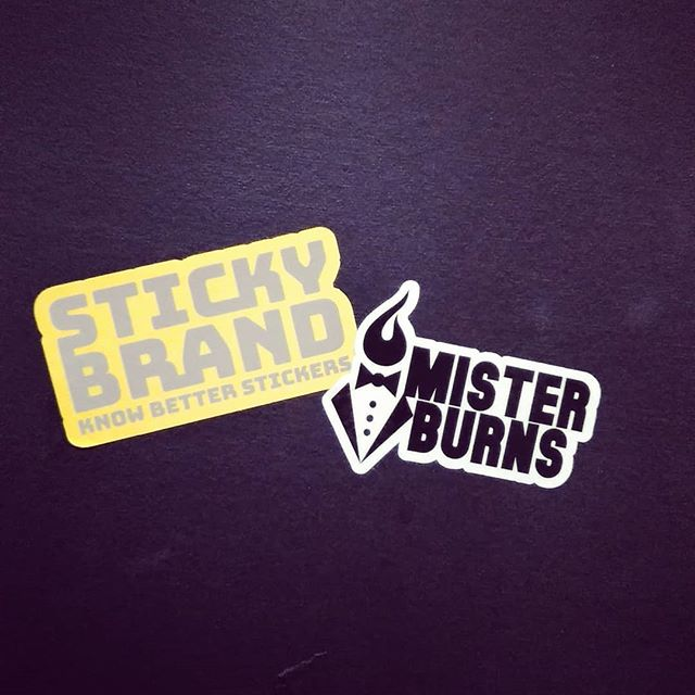 Big shout out to @thestickybrand for sponsoring the tour and hooking us up with the best stickers around. If you are interested in getting stickers printed look no further. - #greenroom #knowbetterstickers #thestickybrand #slaps #misterburnsvt #stickers #bombproof #getyousome #stickemup #vermontmade #quality #solid