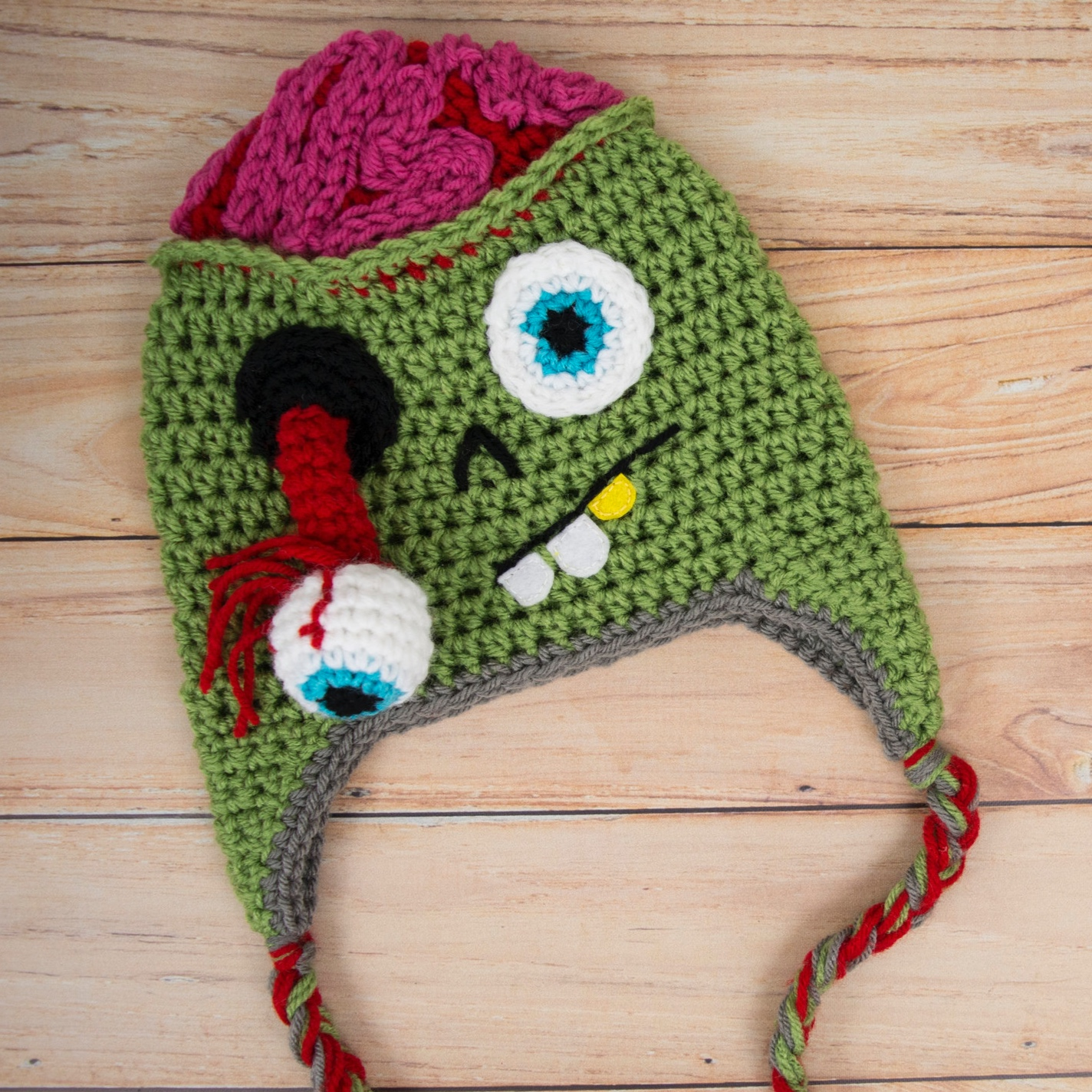 Free Crochet Zombie Hat Pattern -