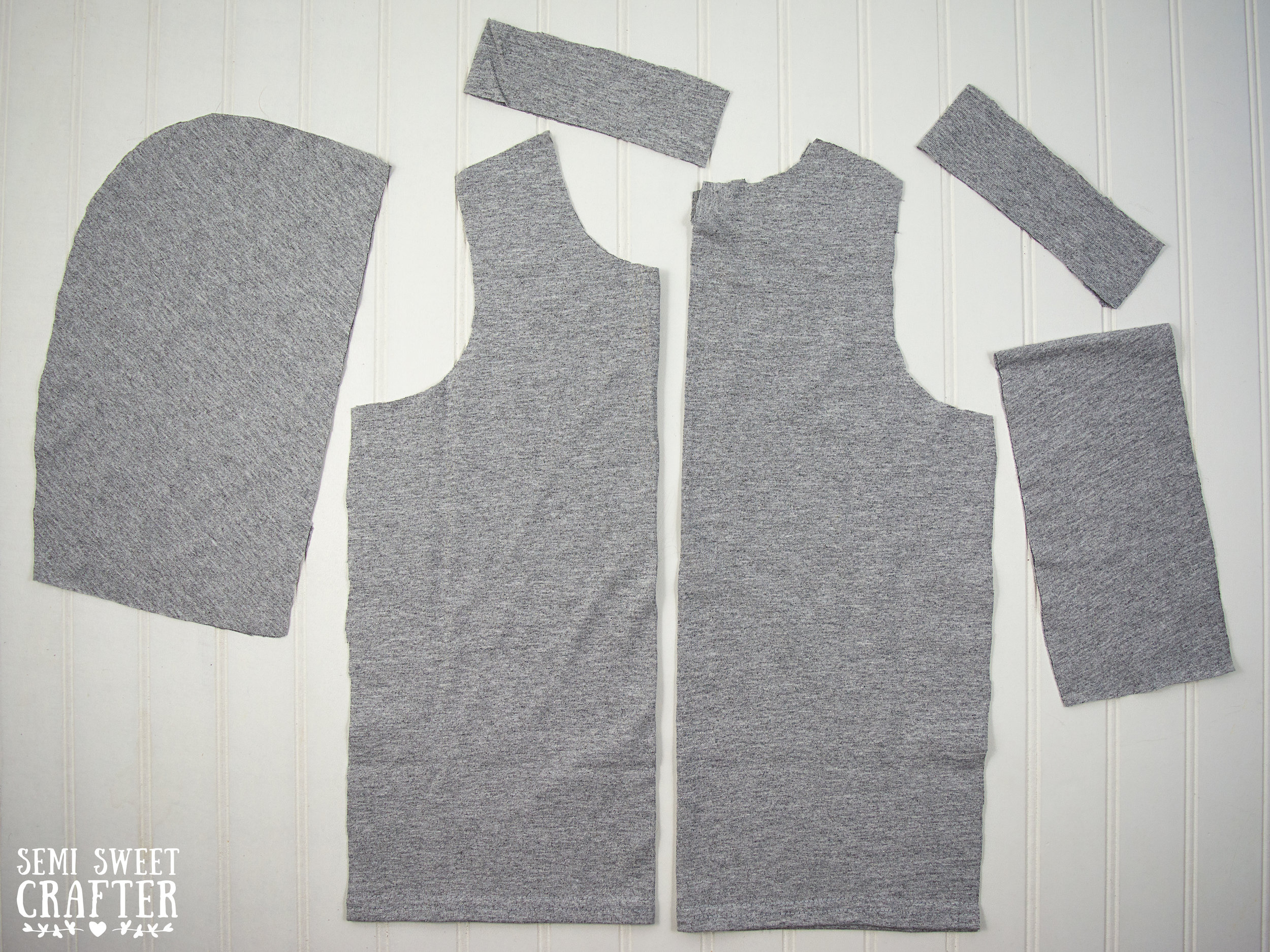 Blank Adult Shirt Tailored Into Kid's Apparel- Sewing Project by Semi Sweet Crafter
