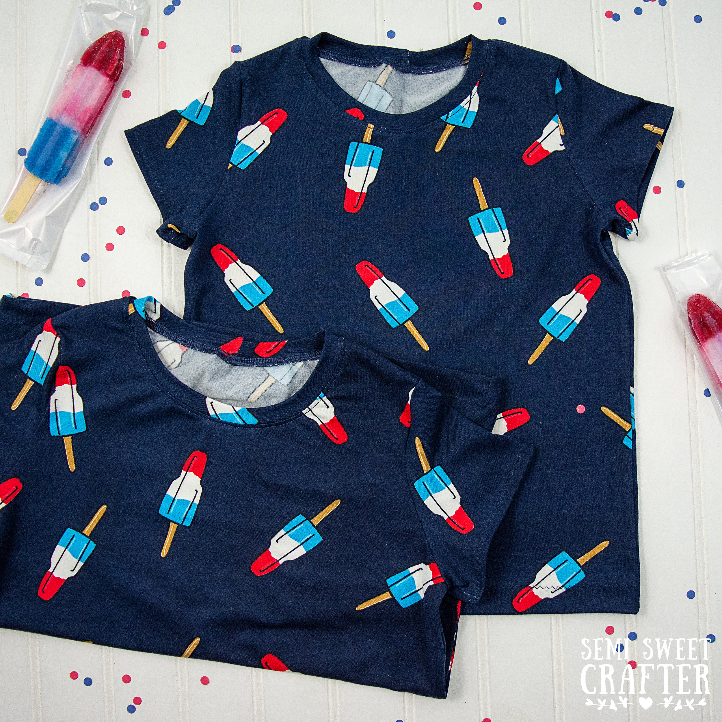 Fourth Of July T-Shirts: Sewing Project by Semi Sweet Crafter
