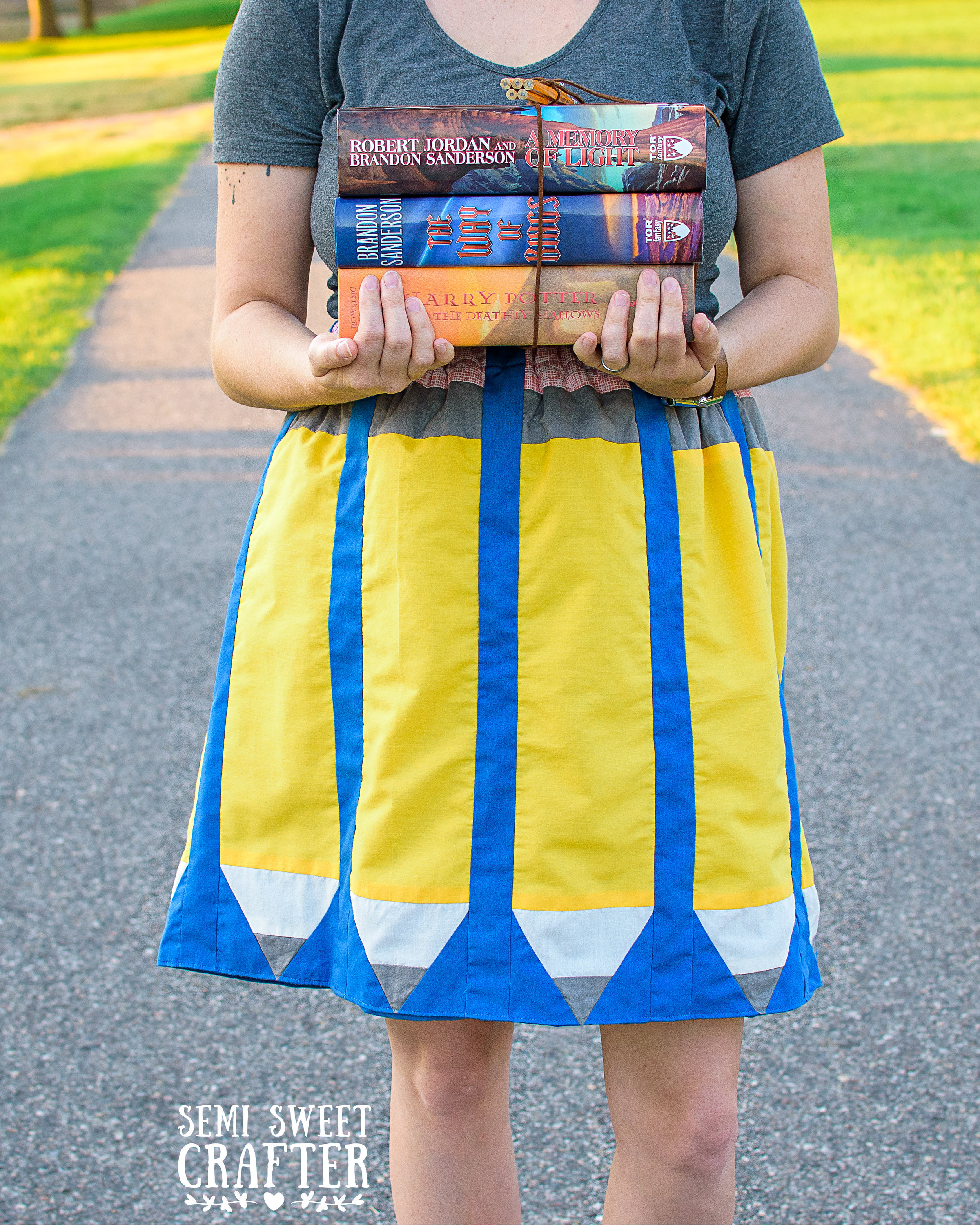 Just Write Skirt: Sewing Project by Semi Sweet Crafter