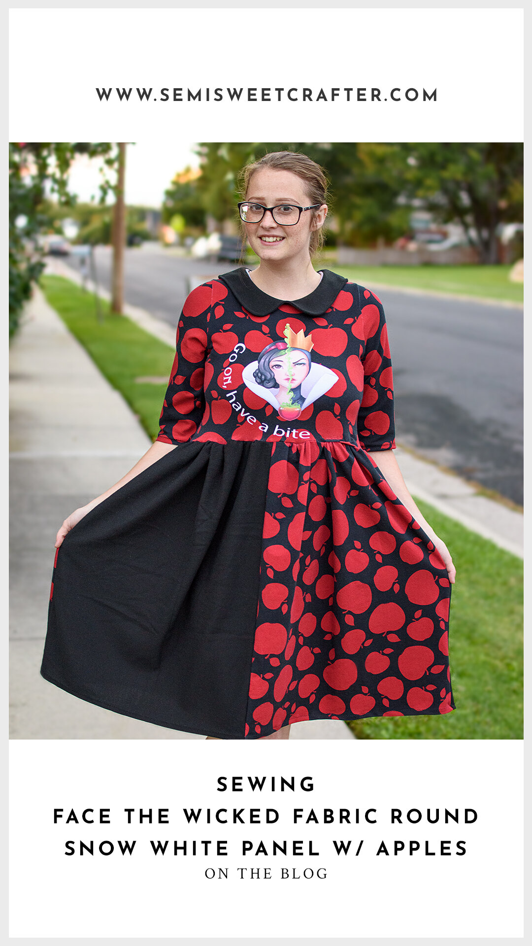 Snow White Dress Sewing Project by Semi Sweet Crafter, Brought To You By: Happy Cactus Fabrics