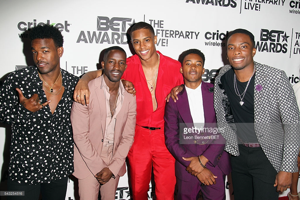 Above seen at the BET awards with his cast members of the new BET film coming next year for New Edition!