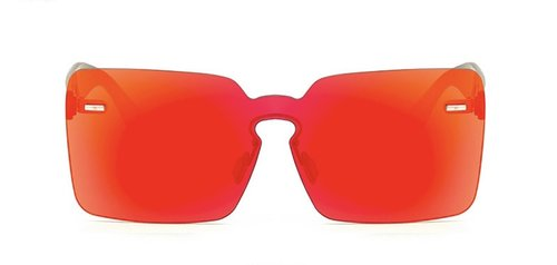 Square Panel Frames in Red, https://www.glossthelabel.com/imported-products/square-panel-sunglasses-reflective-red
