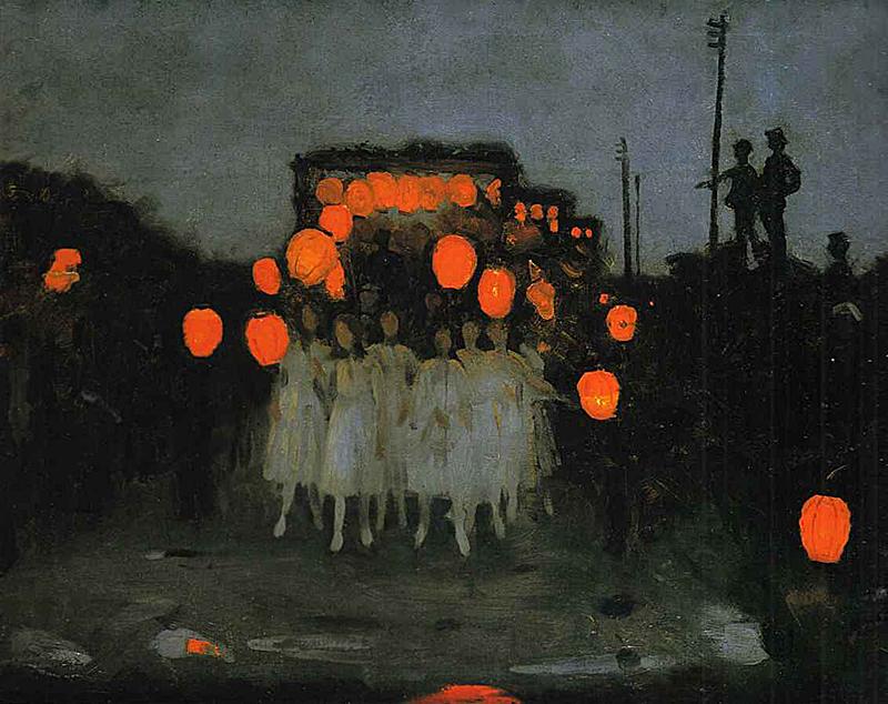 The Lantern Parade by Thomas Cooper Gotch -  source