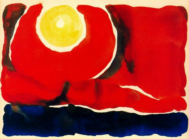 Evening Star #6 by Georgia O'Keeffe -  source