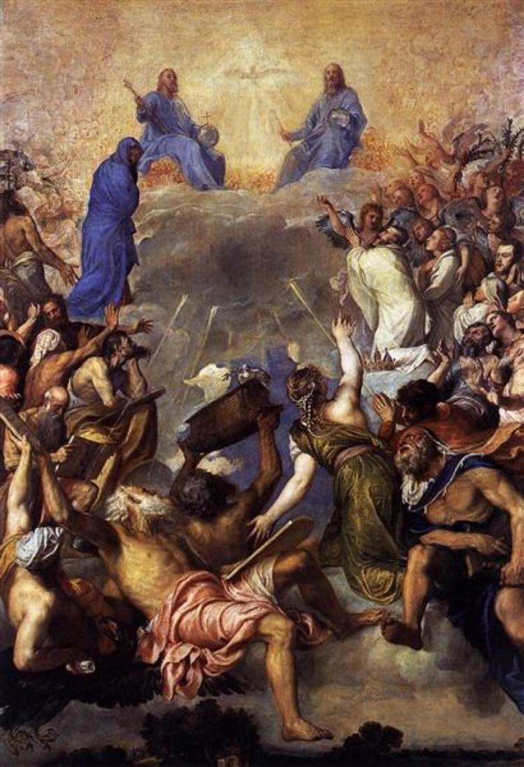 The Trinity in Glory - Titian