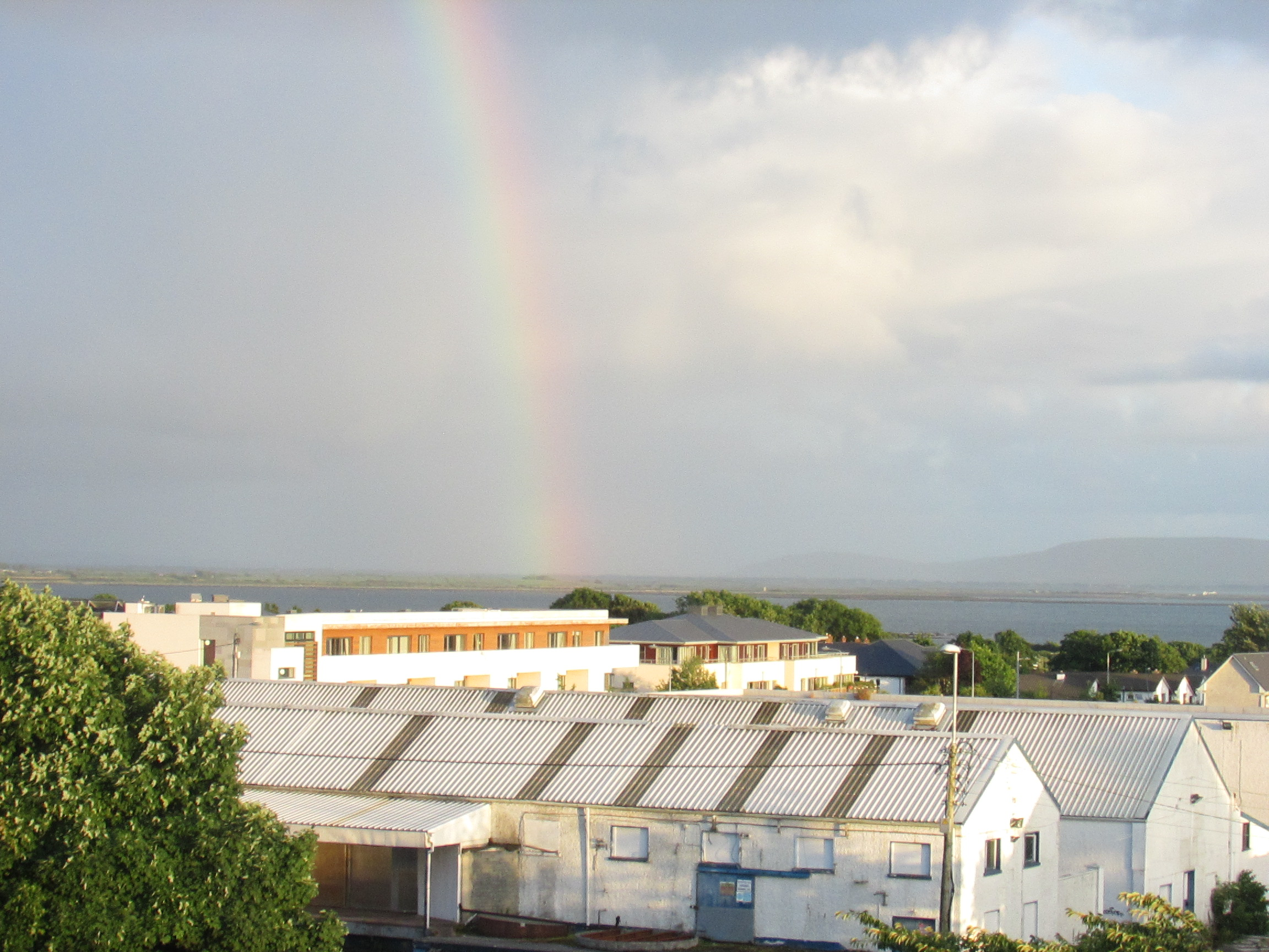 I told Brian I would not leave Ireland until I saw a rainbow. Check. (from our hotel room in Galway)