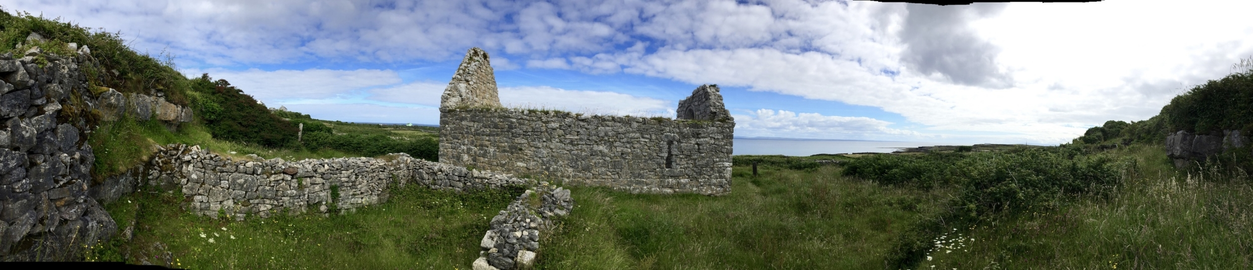 Teampall Chiárain ruins next door to our Airbnb on Inis Mór. This is where we said morning prayer on Sunday.