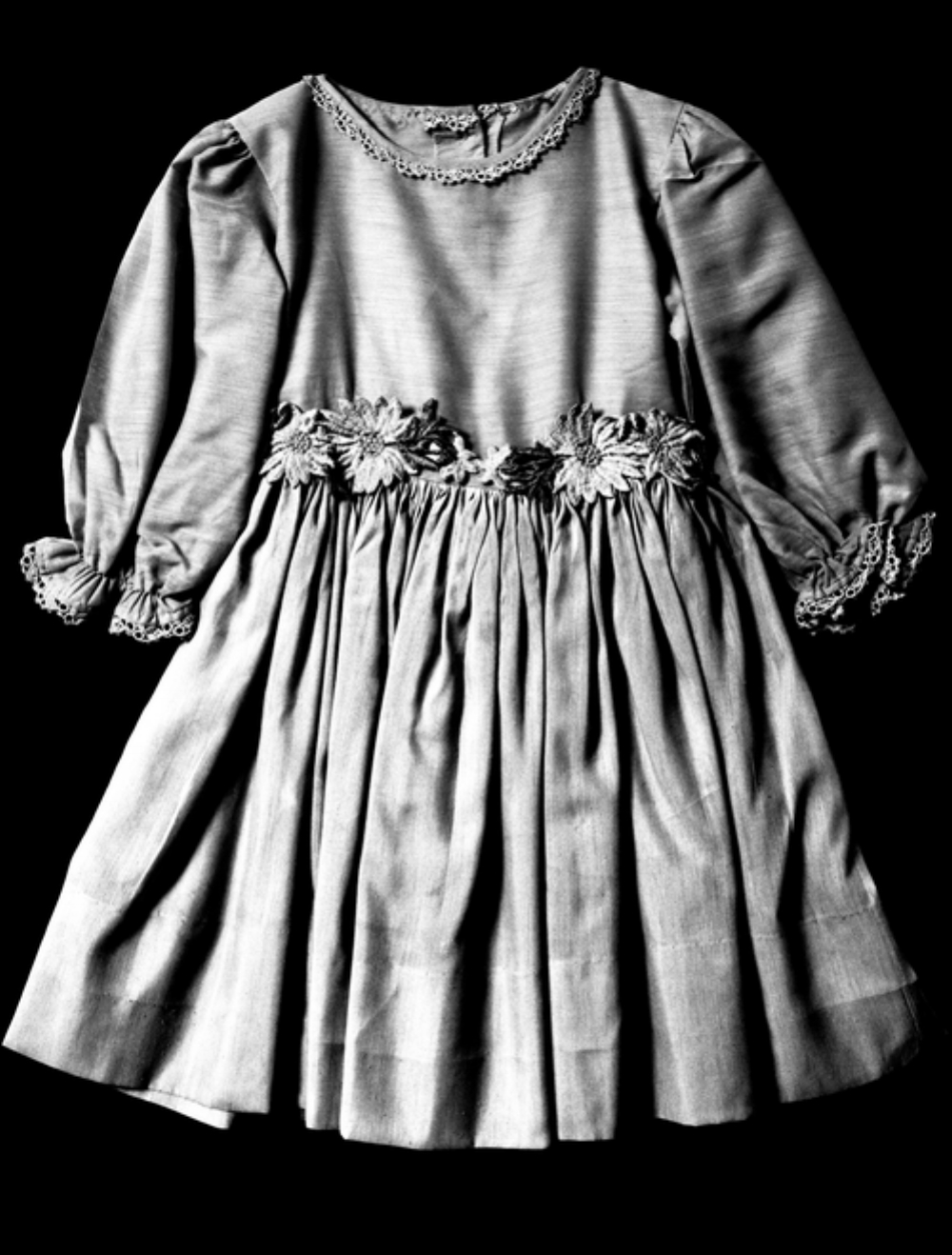 Denise McNair's Dress ( source )   On Sept. 15, 1963, a little over two weeks after the March on Washington four little girls—Addie Mae Collins, Denise McNair, Cynthia Wesley and Carole Robertson—were killed in an explosion at the 16th Street Baptist Church in Birmingham, Al. The explosives were placed and discharged by members of the Ku Klux Klan.